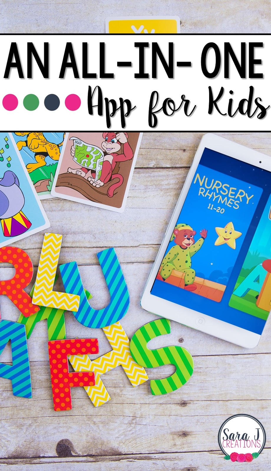 KidloLand is a fun app for toddlers and preschools that works on everything from counting to colors to letters to nursery rhymes and more.