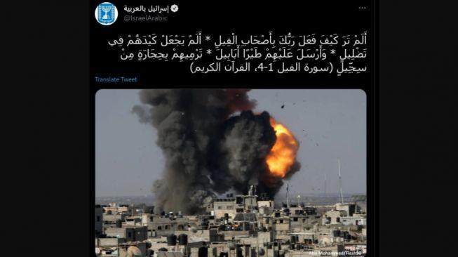 Parah Banget! Israel Hina Al-Qur'an Surah Al Fil saat Bombardir Kawasan Gaza Palestina