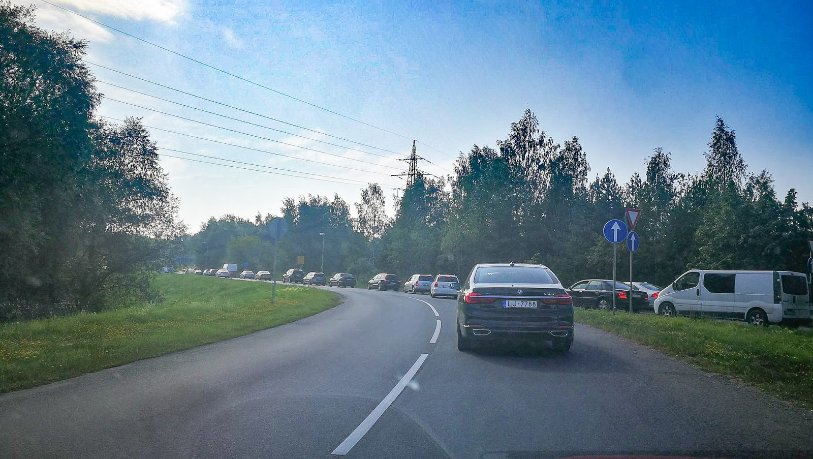 Sastrēgums Jaunciema gatvē Rīgā