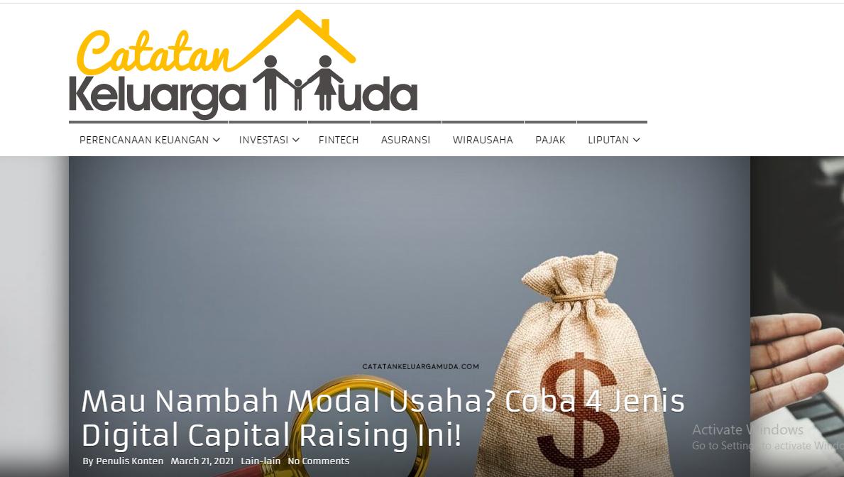 """Blog Finansial """"CatatanKeluargaMuda.com"""""""