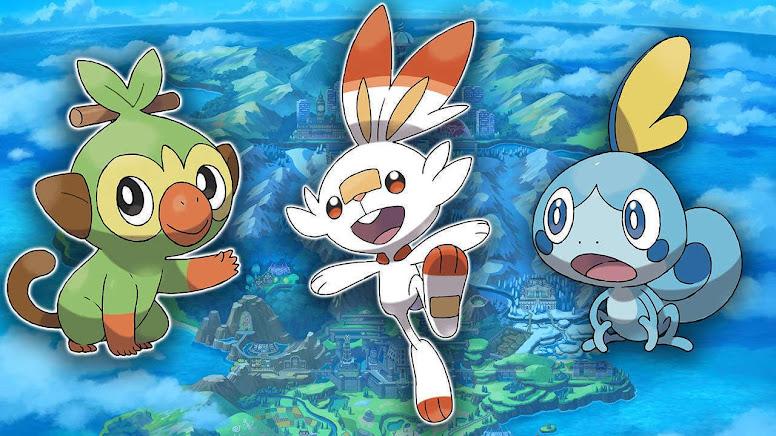 Pokémon Iniciais de Galar