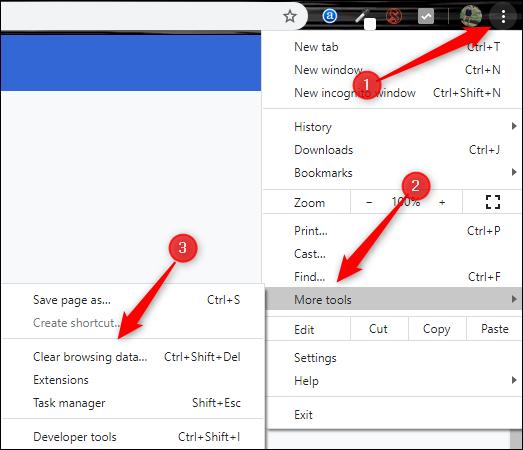 افتح نافذة الإعدادات في Chrome من خلال القائمة