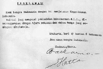 Peristiwa proklamasi kemerdekaan Indonesia dilaksanakan pada tanggal  Teks Proklamasi Kemerdekaan Indonesia Versi Otentik/Asli & Klad