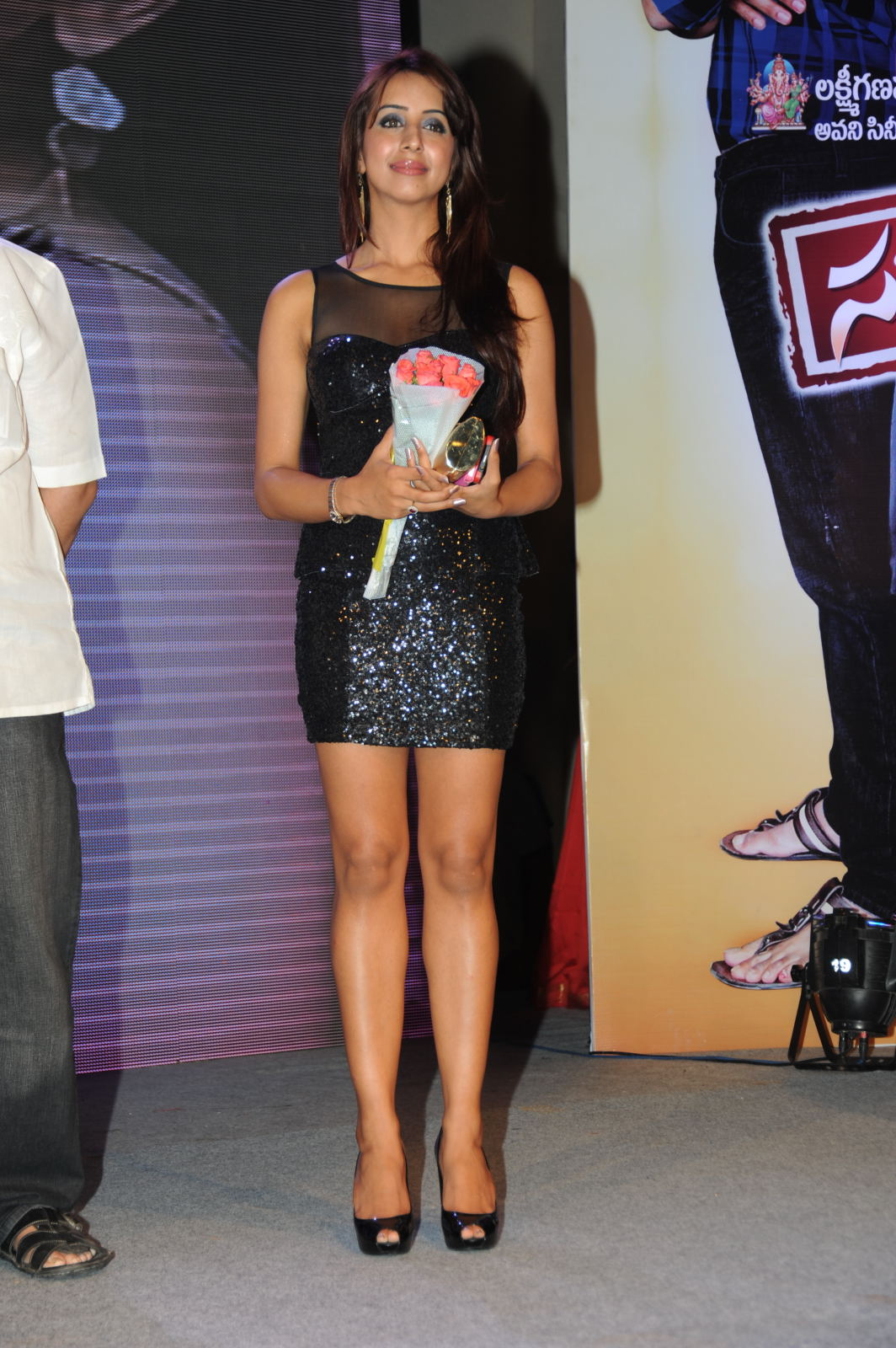 pretty gorgeous Sanjana hot pics at something something online music  audio launch