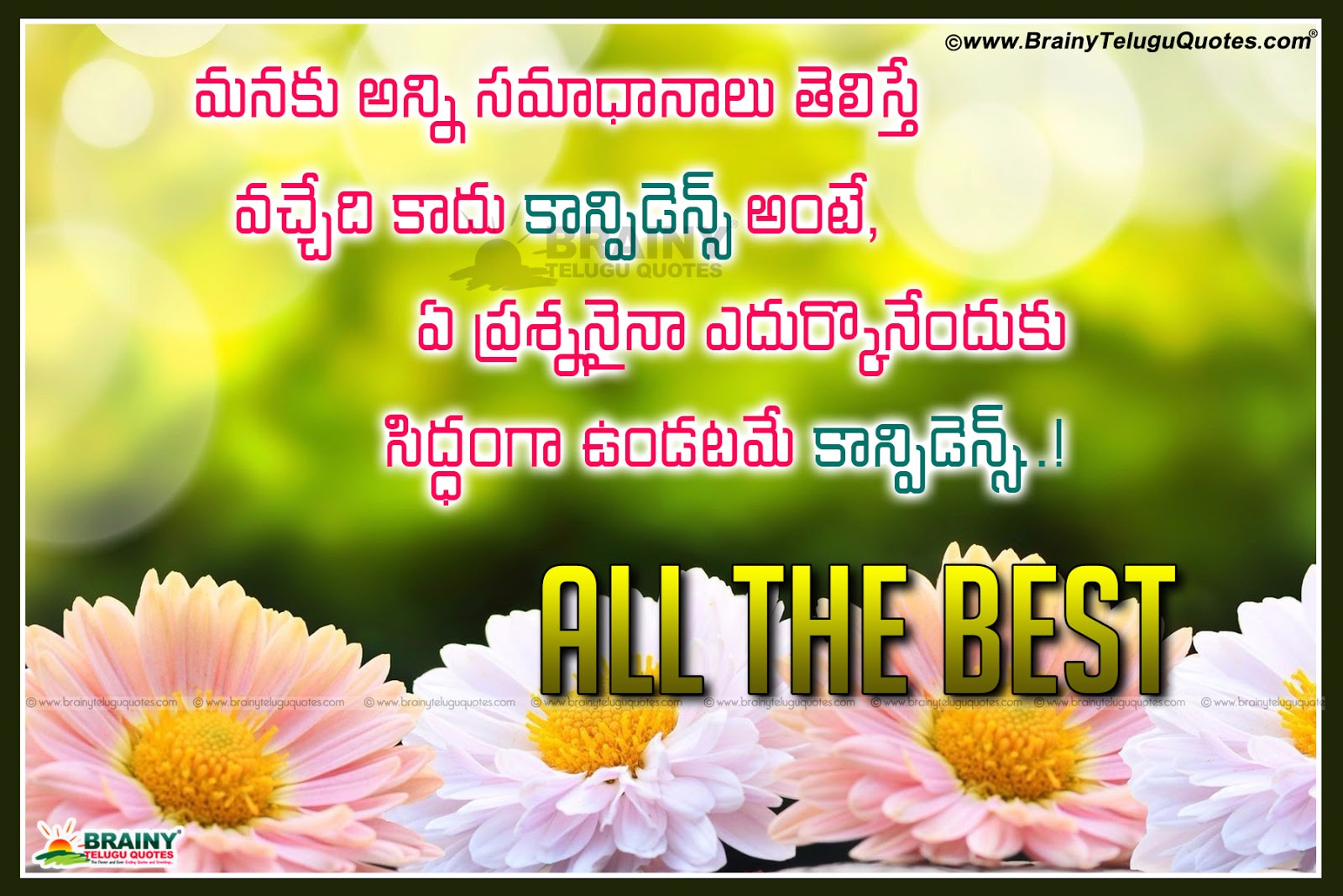 best inspiring all the best quotes in telugu with blooming