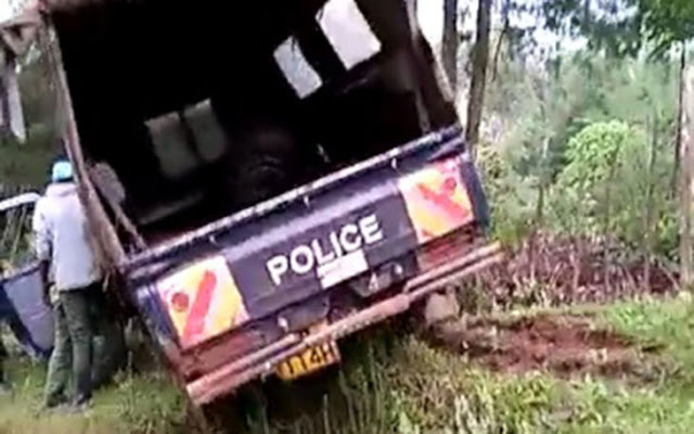 Police officer who crushed a Policer at A Police officer who crushed a police car has committed suicide Kiptagich Police Station