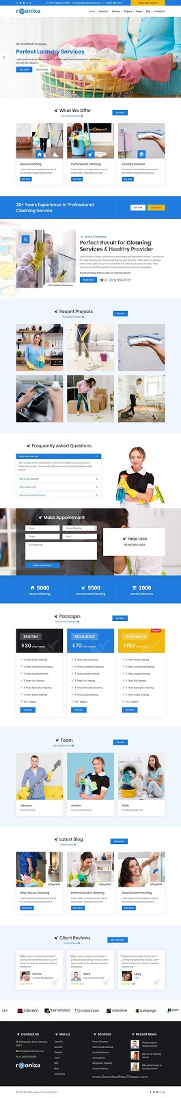 Roonixa - Cleaning Services HTML5 Template