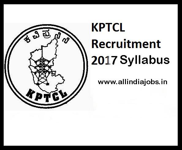 KPTCL Syllabus 2017   HESCOM BESCOM GESCOM CESC Engineer