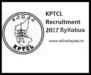 KPTCL Syllabus 2017