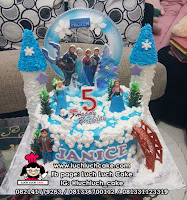 Kue Tart Ulang Tahun Tema Frozen