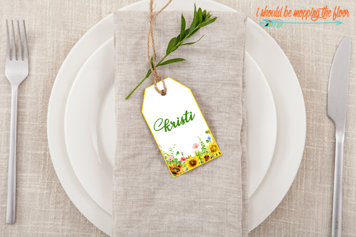 Summer Place Cards