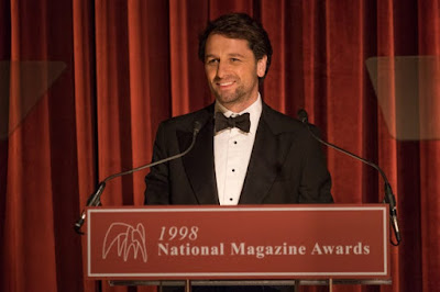 "In ""A Beautiful Day in the Neighborhood,"" Lloyd Vogel (Matthew Rhys) gives a speech at the National Magazine Awards."
