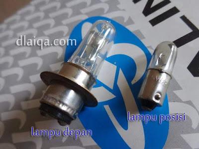 bohlam lampu depan (utama) dan lampu posisi