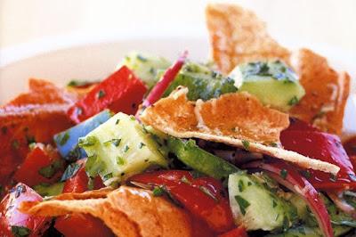 Fattoush (Middle Eastern bread salad)