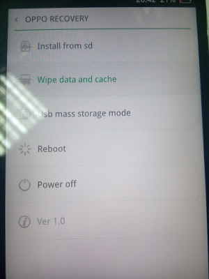 Recovery Mode Oppo Smartphone