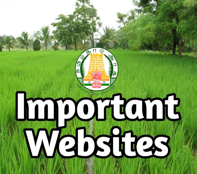 List of Important Tamilnadu Government Websites