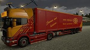 Scania Steamline VSB skin + Bodex trailer