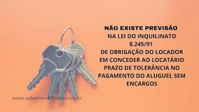 Imagem cor laranja que mostra um molho de chaves para ilustrar texto sobre tolerância no pagamento do aluguel.