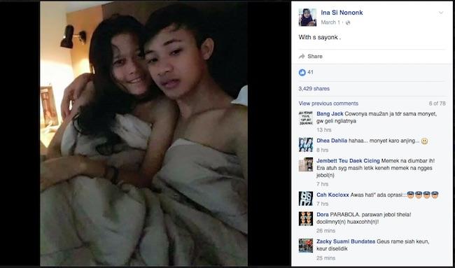 Heboh Foto Mesum Anak SMP Ina si Nononk di Facebook