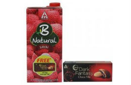 B natural Litchi Juice 1lit + Free Dark Fantasy For Rs 74 (Mrp 99) at Amazon