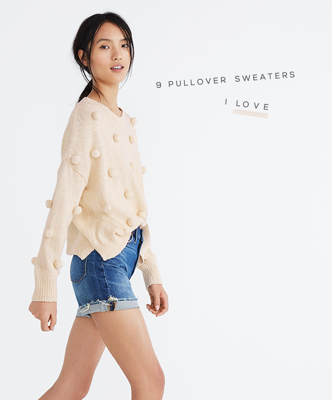 Madewell Pom Pom Pullover Sweater