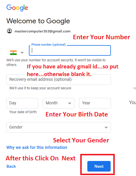 How to create a free Gmail account