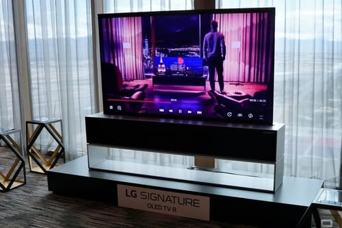 Launch of the world's first foldable screen TV