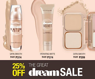 Maybelline Philippines The Great Dream Sale, make up sale
