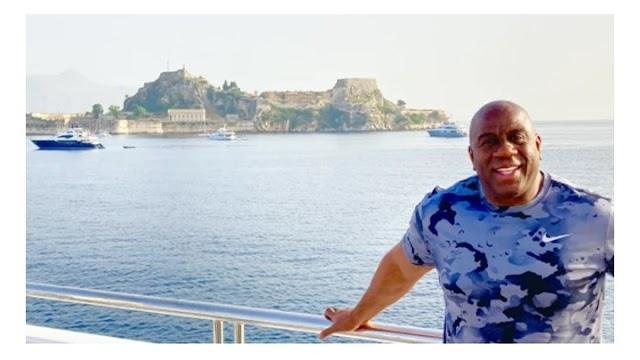 Μάτζικ Τζόνσον: Διακοπές στην Κέρκυρα για τον θρύλο του NBA - ΦΩΤΟ