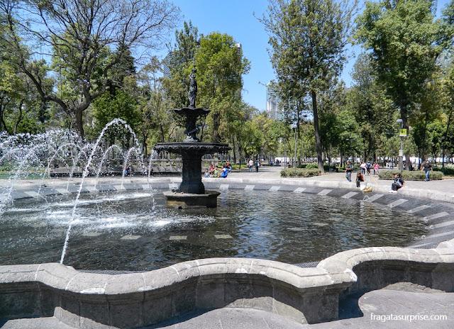 A Alameda Central, no Centro Histórico da Cidade do México