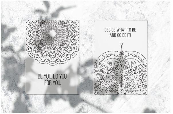 Coloring Postcard Designs