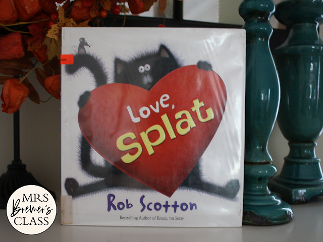 Love Splat Valentine book study literacy unit with Common Core aligned companion activities for K-1