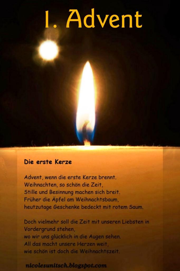 Gedichte Von Nicole Sunitsch Autorin Erster Advent Gedicht
