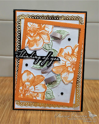 Rhapsody in craft, To A Wild Rose, Woven Heirlooms, Ornate Layer Dies, Stitched Rectangle Dies, In Good Taste DSP, Thinking of You, Pumpkin Pie, Heat Embossing, #colourcreationsshowcase, Stampin' Up, Annual Catalogue 2021