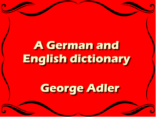 A German and English dictionary