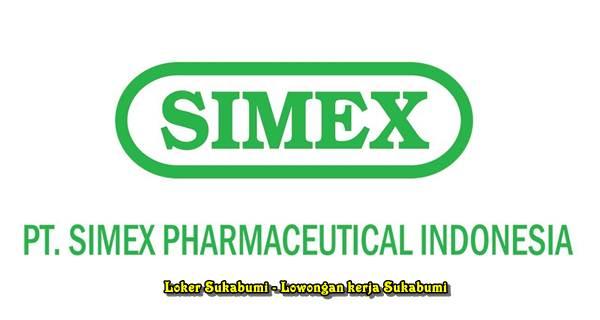 Lowongan Kerja PT Simex Pharmaceuticals Indonesia Sukabumi