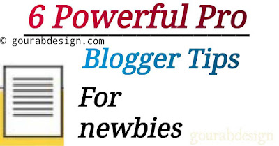 6 powerful pro blogger tips for newbies