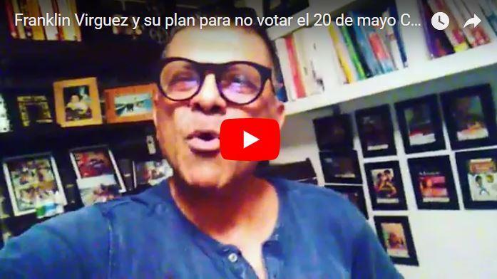 Franklin Virgüez llama a fotografiar y filmar a los que vayan a votar