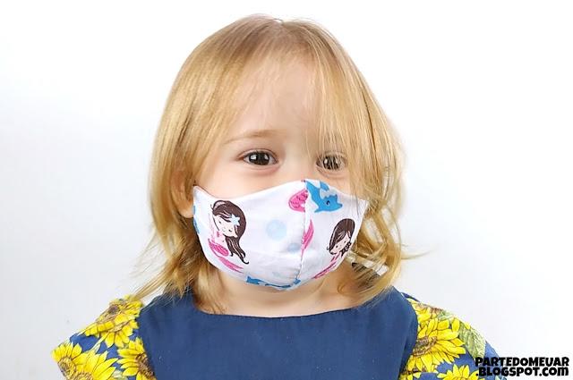 Molde máscara infantil
