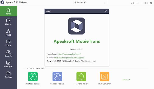 Apeaksoft MobieTrans 2.0.32