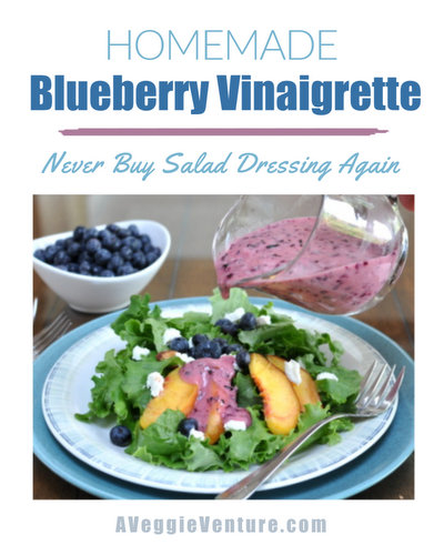 Homemade Blueberry Vinaigrette, another easy salad dressing ♥ AVeggieVenture.com. Never Buy Salad Dressing Again! Weeknight Easy, Worthy of a Weekend Occasion. Low Carb. Vegan. Weight Watchers Friendly.