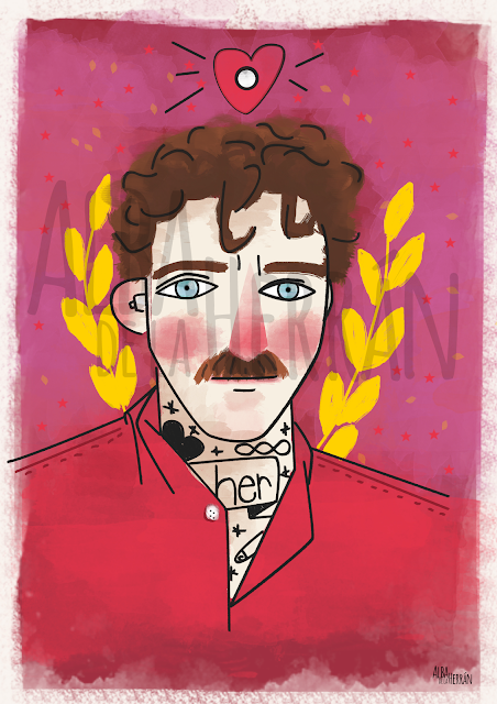 Illustration film her joaquin phoenix