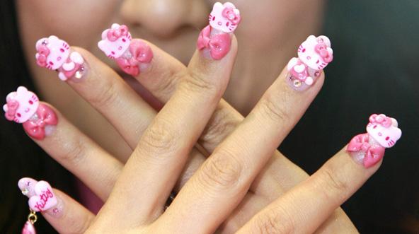 23 Diseños De Uñas En 3d De Hello Kitty ε Diseños De Uñas Decoradas з