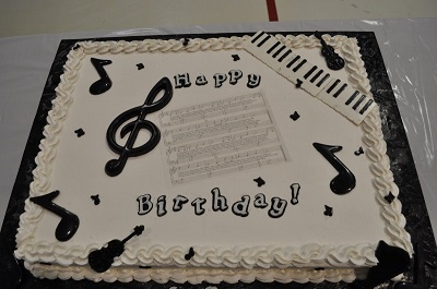 Happy Birthday Musical Cake Image