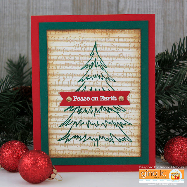Peace On Earth Stamp Set by Juliana Michaels featuring Purrfect Christmas Stamp Set by Gina K Designs