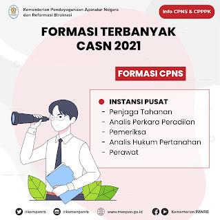 Prioritas formasi CPNS 2021 instansi pusat