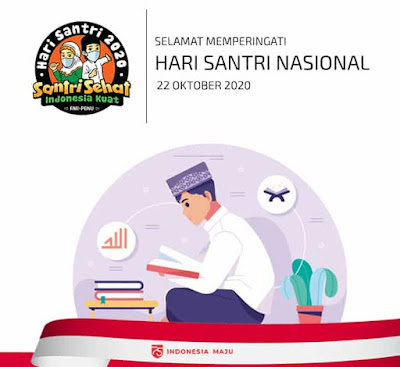 background hari santri nasional 2020