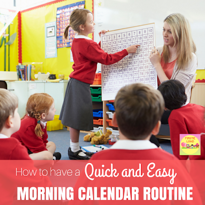 Are you looking for an easy morning calendar routine for kindergarten or first grade? Teachers will love this smart board calendar that is perfect for your morning circle time and linked to the common core standards.#calendar #morningroutine #circletime #firstgrade #teachers #classroom