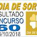 Resultado do Dia de Sorte concurso 60 (06/10/2018) ACUMULOU!!!