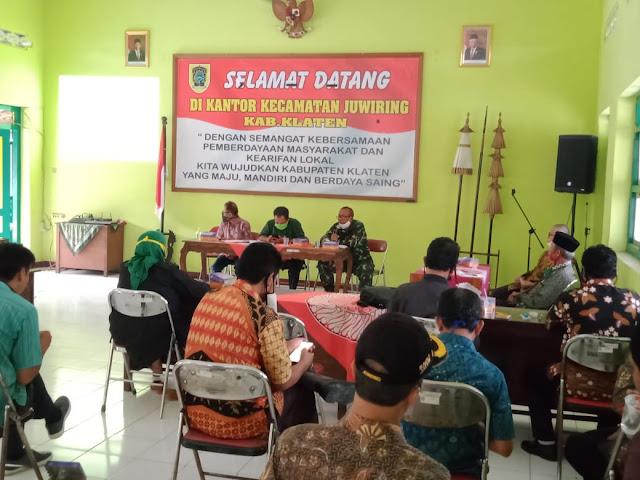 Danramil 21 Juwiring Hadiri Rakor Lintas Sektoral  Tingkat Kecamatan